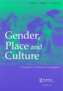 cover image of Gender, Place and Culture journal