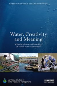 book cover of 'Water, Creativity and Meaning' featuring human-water interaction vignettes
